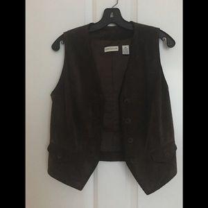 NWOT Ann Taylor Suede Vest XS